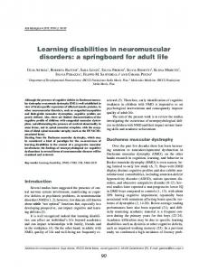 Learning disabilities in neuromuscular disorders - Semantic Scholar