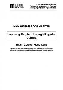 Learning English through Popular Culture
