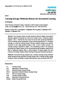 Learning Entropy: Multiscale Measure for