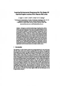 Learning Environmental Parameters For The Design Of ... - ePrints Soton