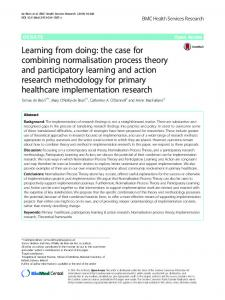 Learning from doing: the case for combining ... - Semantic Scholar