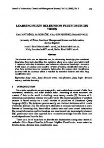 learning fuzzy rules from fuzzy decision trees - CiteSeerX