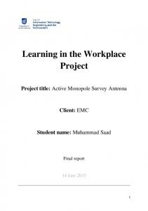 Learning in the Workplace Project