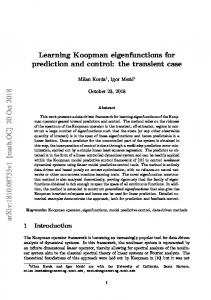 Learning Koopman eigenfunctions for prediction and control