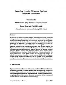 Learning Locally Minimax Optimal Bayesian Networks
