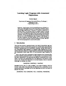 Learning Logic Programs with Annotated ... - Semantic Scholar