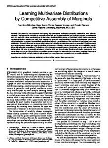 Learning Multivariate Distributions by Competitive Assembly of