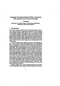 Learning Non-deterministic Finite Automata from Queries ... - CiteSeerX