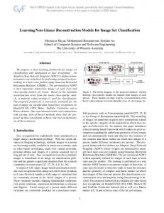 Learning Non-Linear Reconstruction Models for Image Set Classification