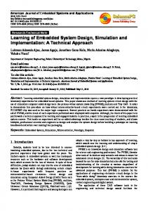 Learning of Embedded System Design, Simulation