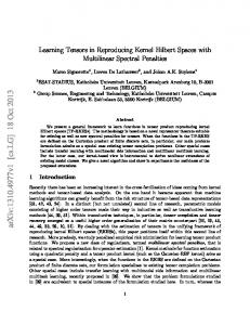Learning Tensors in Reproducing Kernel Hilbert Spaces with