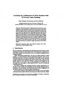 Learning the Preferences of News Readers with SVM ... - Springer Link