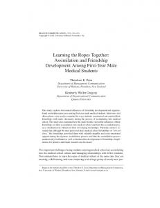Learning the Ropes Together: Assimilation and Friendship ...