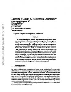 Learning to Adapt by Minimizing Discrepancy