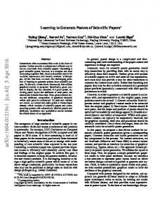 Learning to Generate Posters of Scientific Papers