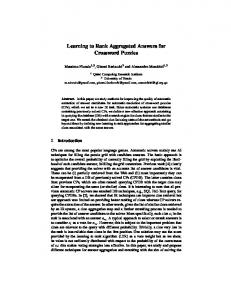 Learning to Rank Aggregated Answers for