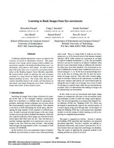Learning to Rank Images from Eye movements - Research