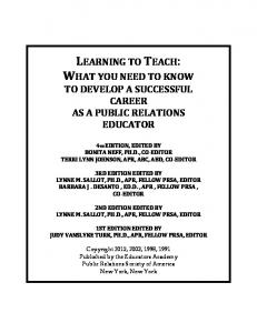Learning to Teach Fourth Edition