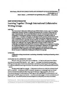 Learning Together Through International Collaborative Writing Groups