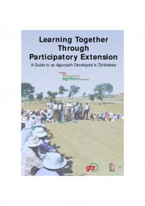 Learning Together Through Participatory Extension