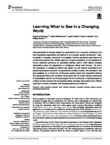 Learning What to See in a Changing World - Semantic Scholar
