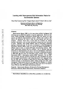 Learning with Heterogeneous Side Information Fusion for ...