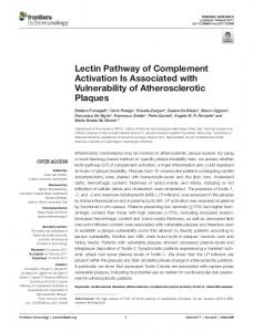 Lectin Pathway of Complement Activation Is