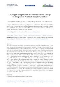 Lectotype designations and nomenclatural changes in ... - CiteSeerX