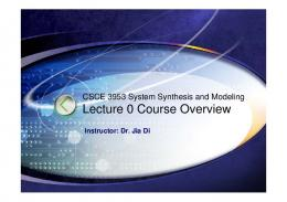 Lecture 0. Overview