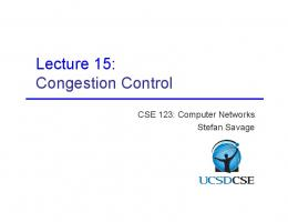 Lecture 15: Congestion Control