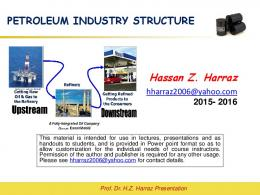 Lecture # 4 PETROLEUM INDUSTRY STRUCTURE