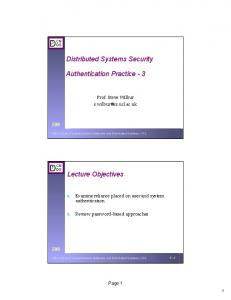 Lecture 5: Authentication Practice - UCL Computer Science