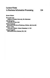Lecture Notes in Business Information Processing 104 - Springer Link
