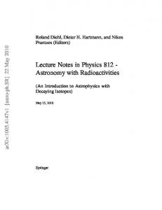 Lecture Notes in Physics 812 - Astronomy with