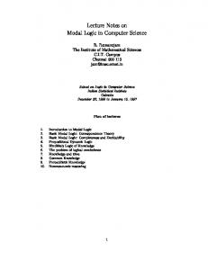 Lecture Notes on Modal Logic in Computer Science - Semantic Scholar