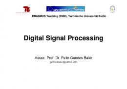Lecture notes on signal processing