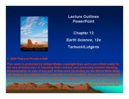Lecture Outlines PowerPoint Chapter 12 Earth Science, 12e ... - Njit