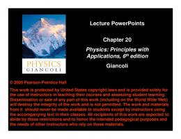Lecture PowerPoints Chapter 20 Physics: Principles with ...