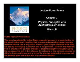 Lecture PowerPoints Chapter 7 Physics - Marlington Local Schools