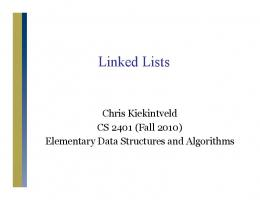 Lecture slides for Chapter 16 (Linked Lists)