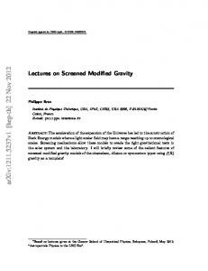 Lectures on Screened Modified Gravity