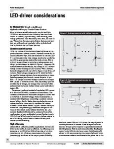 LED-driver considerations - Texas Instruments