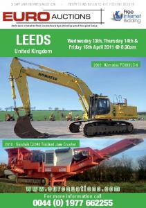 leeds – 3 day unreserved auction – everything sells ... - Euro Auctions