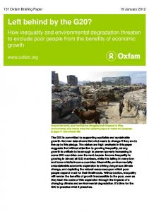 Left behind by the G20? - Oxfam International