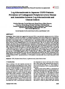 Leg Atherosclerosis in Japanese COPD Patients