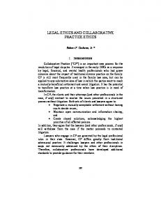 LEGAL ETHICS AND COLLABORATIVE PRACTICE ... - Hofstra Law