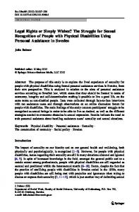 Legal Rights or Simply Wishes? The Struggle for ... - Springer Link