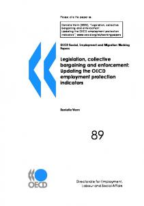 Legislation, collective bargaining and enforcement - CiteSeerX