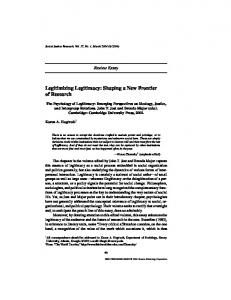 Legitimizing Legitimacy - NYU Psychology