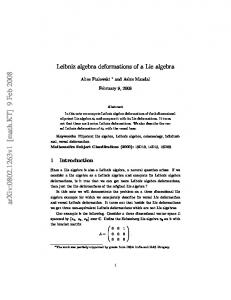 Leibniz algebra deformations of a Lie algebra